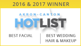 2016-2017 Akron, Canton HotList Winner for Best Facial & Best Wedding Hair & Makeup