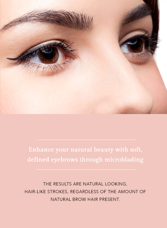 Enhance your natural beauty with soft, defined eyebrows through microblading. Skincare Services by Christina Freeman, Owner and Esthetician at Love Beautiful Skin, North Canton, Akron, Canton, Cleveland, Columbus, Ohio.