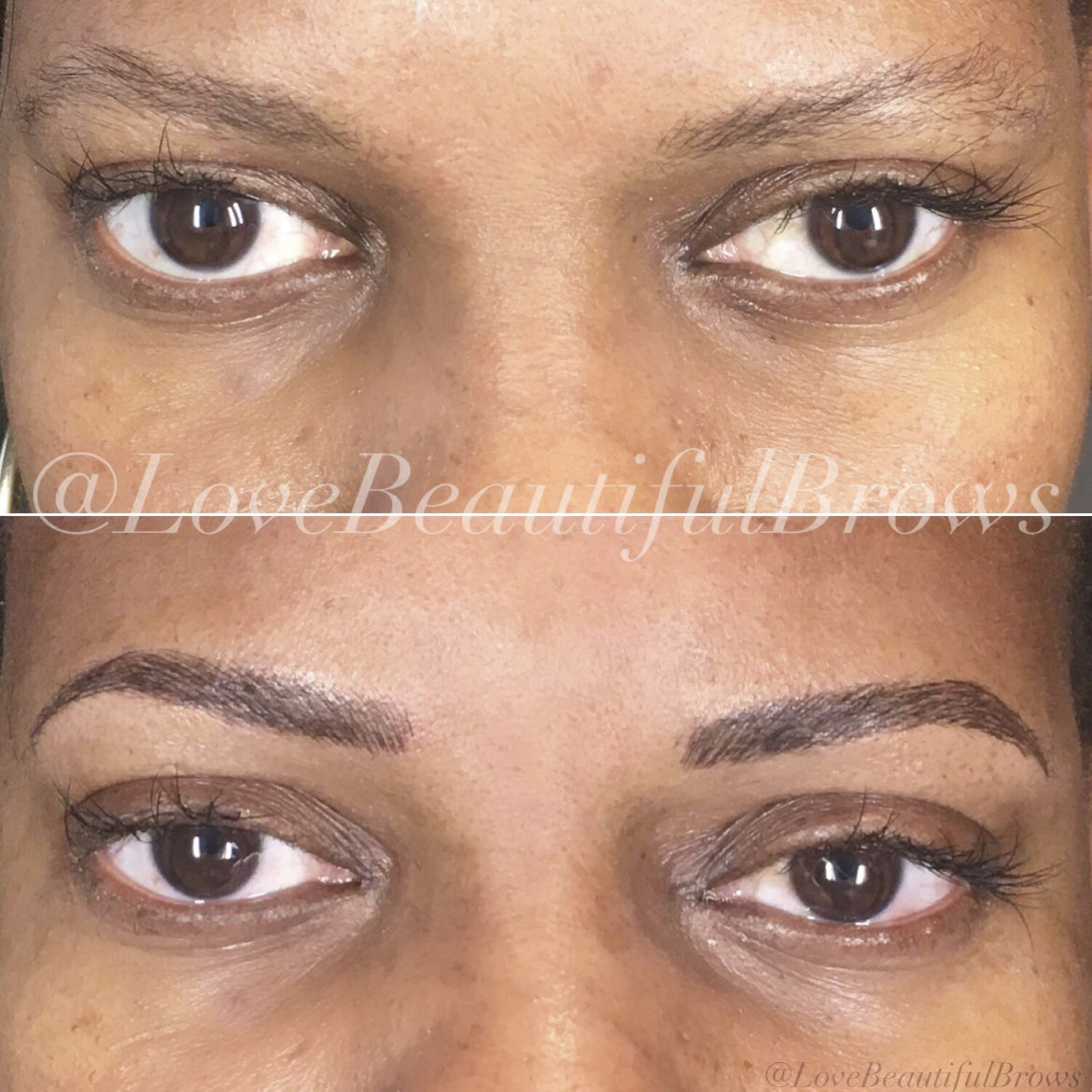 Microblading by Christina Freeman, Owner and Esthetician at Love Beautiful Skin, North Canton, Akron, Canton, Cleveland, Columbus, Ohio.