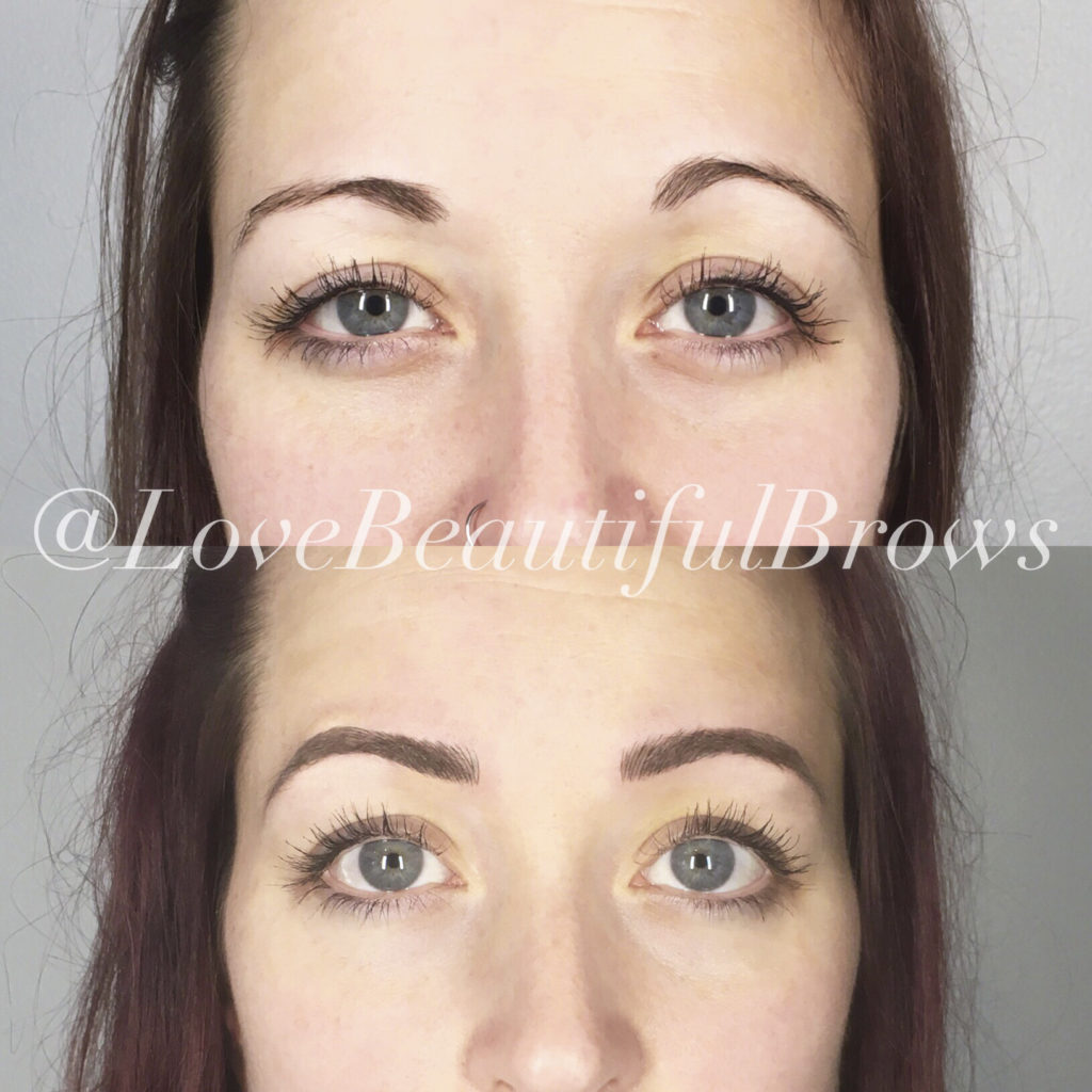 Love Beautiful Skin Microblading Services by Christina Freeman, Owner and Esthetician.