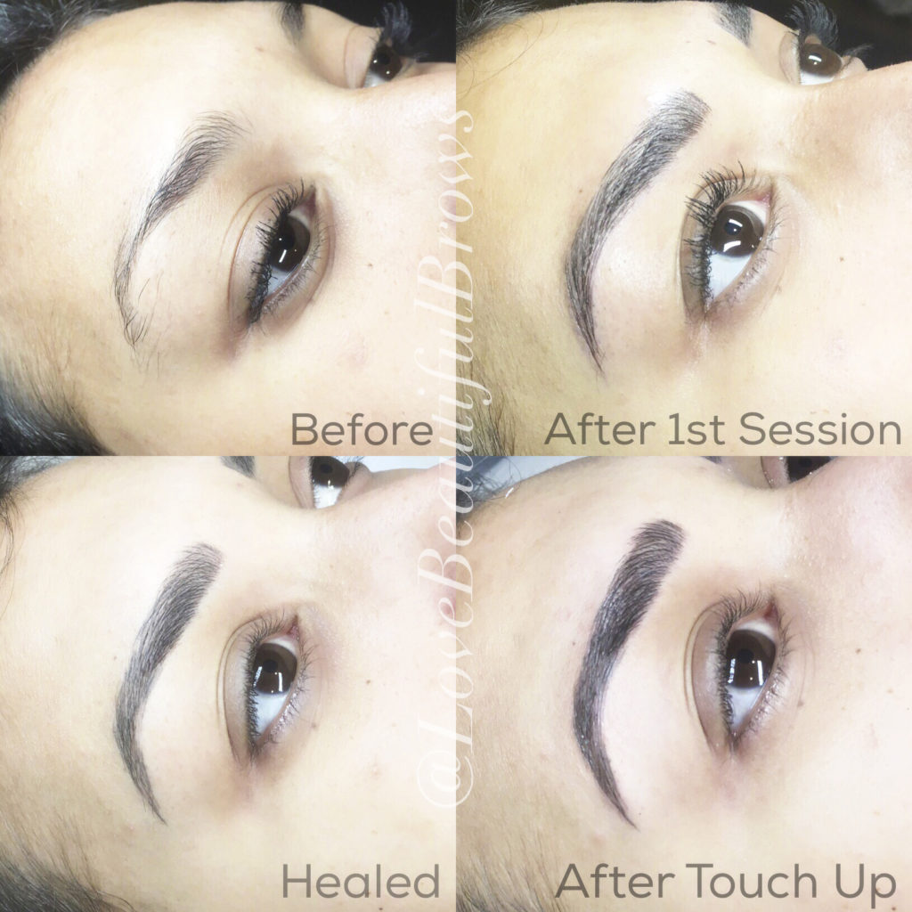Microblading Services by Christina Freeman, Owner and Esthetician at Love Beautiful Skin, North Canton, Akron, Canton, Cleveland, Columbus, Ohio.